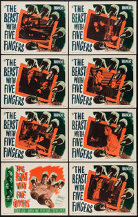 "The Beast with Five Fingers (Warner Brothers, 1947). Lobby Card Set of 8 (11"" X 14""). Horror. ... (Total: 8 It..."