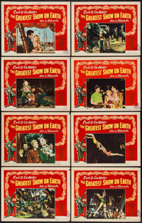 "The Greatest Show on Earth (Paramount, 1952). Lobby Card Set of 8 (11"" X 14""). Drama. ... (Total: 8 Item)"