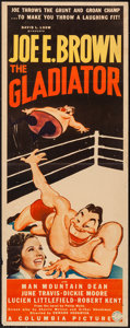 """Movie Posters:Comedy, The Gladiator (Columbia, 1938). Insert (14"""" X 36""""). Comedy.. ..."""