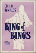 "Movie Posters:Historical Drama, The King of Kings (R-1950s). Locally Produced One Sheet (28"" X 41"")& Locally Produced Window Card (14"" X 22""). Historical D...(Total: 2 Items)"