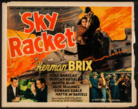 "Sky Racket (Victory, 1937). Half Sheet (22"" X 28""). Action"