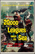 "Movie Posters:Science Fiction, 20,000 Leagues Under the Sea (Buena Vista, R-1963). One Sheet (27""X 41"") Flat-Folded Style A. Science Fiction.. ..."