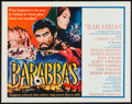 "Movie Posters:Adventure, Barabbas (Columbia, 1962). Half Sheet (22"" X 28""), Lobby Card Setof 8 (11"" X 14""), & Program (24 Pages, 7.75"" X 10.25""). Ad...(Total: 10 Items)"