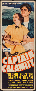 "Movie Posters:Adventure, Captain Calamity (Grand National, 1936). Insert (14"" X 36"").Adventure.. ..."
