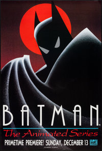 """Batman: The Animated Series (Warner Brothers, 1992). Television Poster (27"""" X 40""""). Animation"""