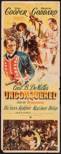 "Movie Posters:Adventure, Unconquered (Paramount, 1947). Insert (14"" X 36""). Adventure.. ..."