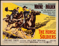 "Movie Posters:Western, The Horse Soldiers (United Artists, 1959). Half Sheet (22"" X 28"") Style B. Western.. ..."
