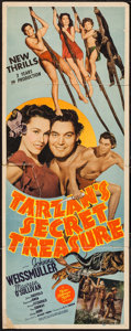 "Movie Posters:Adventure, Tarzan's Secret Treasure (MGM, 1941). Insert (14"" X 36"").Adventure.. ..."