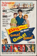 "Movie Posters:Elvis Presley, Girls! Girls! Girls! (Paramount, 1962). One Sheet (27"" X 41"") &Lobby Card (11"" X 14""). Elvis Presley.. ... (Total: 2 Items)"