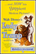 "Movie Posters:Animation, Lady and the Tramp & Other Lot (Buena Vista, 1955). One Sheet(27"" X 41"") & Insert (14"" X 36""). Animation.. ... (Total: 2Items)"
