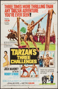 "Movie Posters:Adventure, Tarzan's Three Challenges & Other Lot (MGM, 1963). One Sheet(27"" X 41"") & Lobby Cards (10) (11"" X 14""). Adventure.. ...(Total: 11 Items)"
