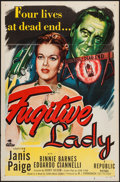 "Movie Posters:Crime, Fugitive Lady (Republic, 1951). One Sheet (27"" X 41""). Crime.. ..."