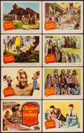 "Movie Posters:Adventure, A Thousand and One Nights (Columbia, 1945). Lobby Card Set of 8(11"" X 14""). Adventure.. ... (Total: 8 Items)"