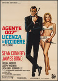 "Movie Posters:James Bond, Dr. No (United Artists, R-1972). Italian 2 - Foglio (39.5"" X 55""). James Bond.. ..."