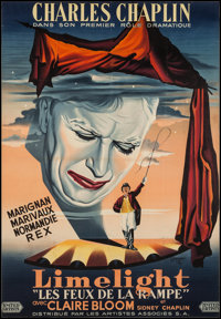 """Limelight (United Artists, 1952). Trimmed French Grande (40.25"""" X 59""""). Drama"""