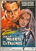 """Movie Posters:Hitchcock, North by Northwest (MGM, R-1970s). Spanish One Sheet (27.5"""" X39.5""""). Hitchcock.. ..."""