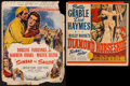 """Movie Posters:Adventure, Sinbad the Sailor & Others Lot (RKO, 1946). Trimmed WindowCards (6) (14"""" X 14.5"""", 14"""" X 15"""", 14"""" X 17"""", 14"""" X 17.5"""", &14"""" ... (Total: 6 Items)"""