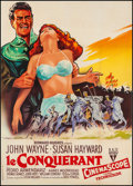 "Movie Posters:Action, The Conqueror (RKO, 1956). French Grande (45"" X 63""). Action.. ..."
