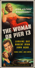 "Movie Posters:Film Noir, The Woman on Pier 13 (RKO, 1950). Three Sheet (41"" X 79""). Film Noir.. ..."