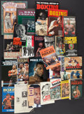 Boxing Collectibles:Memorabilia, Boxing Hardcover and Paperback Books Lot of 26....