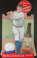 Baseball Collectibles:Others, Babe Ruth Helmar Brewing Cardboard Standup Display....