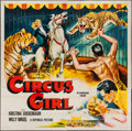 "Movie Posters:Adventure, Circus Girl & Other Lot (Republic, 1956). Six Sheet (80"" X 80"")& Three Sheet (41"" X 81""). Adventure.. ... (Total: 2 Items)"