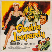 """Double Jeopardy & Others Lot (Republic, 1955). Six Sheet (80"""" X 80"""") & One Sheets (2) (27""""..."""