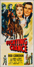 """Movie Posters:Sports, The Fighting Chance (Republic, 1955). Three Sheet (41"""" X 81""""). Sports.. ..."""