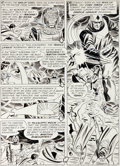 "Original Comic Art:Panel Pages, Mike Sekowsky and Bernard Sachs Justice League of America#20 ""The Mystery of Spaceman X!"" Page 21 Original Art (D..."