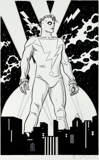 Mike Allred Madman Pin-Up Illustration Original Art (Graphitti Designs, 1994)