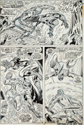 Original Comic Art:Panel Pages, John Romita Sr., Paul Reinman, and Tony Mortellaro AmazingSpider-Man #132 Molten Man Page 18 Original Art (Marvel...