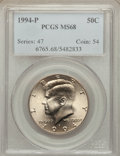 Kennedy Half Dollars: , 1994-P 50C MS68 PCGS. PCGS Population (7/0). NGC Census: (4/0).Mintage: 23,718,000. ...