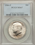 Kennedy Half Dollars: , 1984-P 50C MS67 PCGS. PCGS Population (22/0). NGC Census: (32/0).Mintage: 26,029,000. Numismedia Wsl. Price for problem fr...