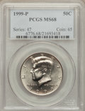 Kennedy Half Dollars: , 1999-P 50C MS68 PCGS. PCGS Population (30/0). NGC Census: (12/1).Numismedia Wsl. Price for problem free NGC/PCGS coin in ...