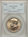 Kennedy Half Dollars: , 1976 50C Clad MS67 PCGS. PCGS Population (13/0). NGC Census: (3/0).Mintage: 234,308,000. Numismedia Wsl. Price for problem...