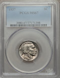 Buffalo Nickels: , 1937 5C MS67 PCGS. PCGS Population (334/6). NGC Census: (390/5).Mintage: 79,485,768. Numismedia Wsl. Price for problem fre...