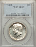 Kennedy Half Dollars: , 1964-D 50C MS67 PCGS. PCGS Population (31/1). NGC Census: (10/0).Mintage: 156,205,440. Numismedia Wsl. Price for problem f...