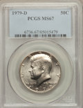 Kennedy Half Dollars: , 1979-D 50C MS67 PCGS. PCGS Population (35/0). NGC Census: (4/0).Mintage: 15,815,422. Numismedia Wsl. Price for problem fre...