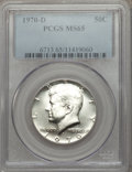 Kennedy Half Dollars, 1970-D 50C MS65 PCGS. Full prooflike surfaces. PCGS Population(2681/441). NGC Census: (972/124). Mintage: 2,150,000. Numis...