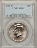 Kennedy Half Dollars, 2005-D 50C MS68 PCGS. PCGS Population (5/0). NGC Census: (16/0)....