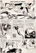 Original Comic Art:Panel Pages, Mike Sekowsky and Bernard Sachs Justice League of America#24 Green Lantern Page 7 Original Art (DC, 1963)....