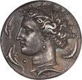 Ancients:Greek, Ancients: SICILY. Syracuse. Time of Dionysius I (405-367 BC). ARdecadrachm (33mm, 43.30 gm, 6h). ...