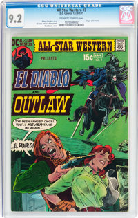 All-Star Western #3 (DC, 1971) CGC NM- 9.2 Off-white to white pages
