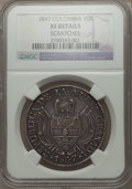 Colombia, Colombia: Nueva Granada 10 Reales 1847 XF Details (Scratches)NGC,...
