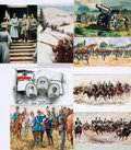 Miscellaneous:Postcards, [Postcards]. Group of Eight Postcards Depicting German MilitaryThemes. Ca. 1915. Unused in protective sleeves. Very good. ...