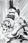 Original Comic Art:Splash Pages, John Romita Jr. and Klaus Janson Amazing Spider-Man #573Splash Page Original Art (Marvel, 2008)....