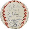 Autographs:Baseballs, 1999 St. Louis Cardinals Team Signed Baseball. Tony LaRussa's Redbirds from the 1999 season appear here in the form of 26 s...
