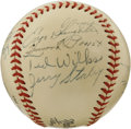 Autographs:Baseballs, 1946 St. Louis Cardinals World Champion Team Signed Baseball. TheWorld Champs of the 1946 season are represented here by t...