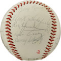 Autographs:Baseballs, 1971 St. Louis Cardinals Team Signed Baseball. The Redbirds fromthe 1971 season are seen here in the form of 22 signature...