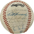 Autographs:Baseballs, 1976 St. Louis Cardinals Team Signed Baseball. The bicentennialRedbirds appear here in the form of 26 signatures on the pr...
